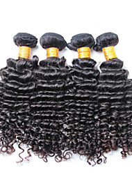 100% umprocessed virgin human hair, no shedding and no tangle 3 pieces/lot Brazilian Deep Wave Hair Wavy