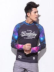 Esportivo Homens Respirável Secagem Rápida Design Anatômico Náilon Chinês Fato de Mergulho Manga Comprida Blusas-MergulhoPrimavera Verão