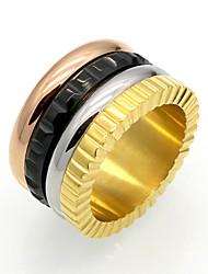 Ring Kreisförmiges Geometrisch Kreis Punkstil individualisiert Hip-Hop Rock Euramerican Doppelschicht Modisch Vintage Titanstahl Kreisform