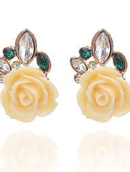 Crystal Geometric Stud Earrings Jewelry Flower Style Party Daily Casual Crystal Alloy 1 pair Multi Color