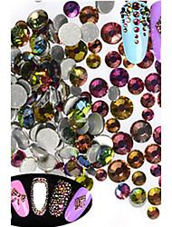 1440pcs/bag Mixed Size Fashion Style Nail Art Glitter Shiny Bling Flame Rhinestone Decoration Nail DIY Beauty Nail Art Sparkling Rhinestone