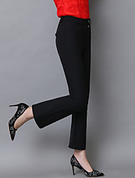 Really making new 2017 spring new women's bell bottom pants slim black slacks female pantyhose