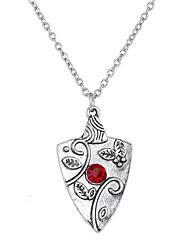 Lureme Vampire Diaries with Bennet Family Bonnie Garnet Charms of Ancient Silver Necklace