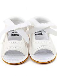 Kids' Sandals Summer Flower Girl Shoes First Walkers PU Wedding Party & Evening Dress Casual Flat Heel Bowknot