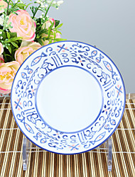 High temperature Porcelain Dining Bowl Dinnerware Flower with tribal print