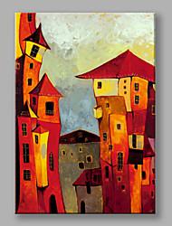 Peint à la main Paysages Abstraits Verticale,Moderne Style européen Un Panneau Toile Peinture à l'huile Hang-peint For Décoration
