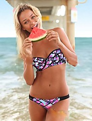 Women's Bandeau Bandeau Bikini,Boho Sponge Acrylic Cotton Blends