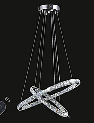 Dimmable New Style Crystal Chandelier Lighting Fixture LED Ring Pendant Light Lighting with Remote Control