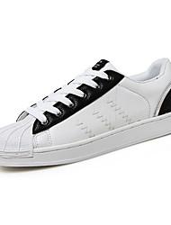Herren Sneakers Frühjahr Herbst Komfort Pu Kunstleder lässig schwarz / weiß schwarz weiß zu Fuß