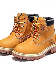 Girls' Boots Winter Comfort Cowhide Casual Low Heel