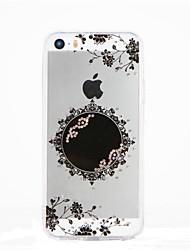 Для Стразы Своими руками Кейс для Задняя крышка Кейс для Цветы Мягкий TPU для Apple iPhone SE/5s iPhone 5