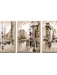 Estampados de Lonas Esticada Famoso Paisagens Abstratas Moderno Realismo,3 Painéis Tela Horizontal Impressão artística Decoração de Parede