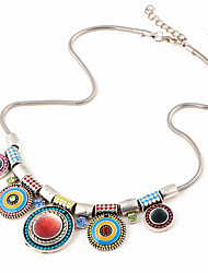 Choker Necklaces Multi-stone Alloy Round Bohemia Rainbow Jewelry Daily 1pc