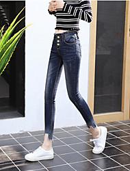 знак Кадуо Лин 2017 Корейская версия новых женщин&# 39, S джинсы женские эластичные тонкие карандашные ноги