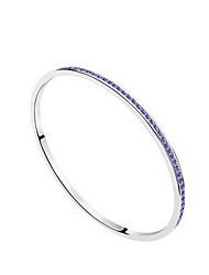 Mulheres Bracelete Jóias Amizade Moda Cristal Liga Forma Geométrica Branco Roxo Vermelho Jóias Para Festa Aniversário 1peça