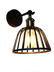 AC220V-240V 4w e27 ha condotto la luce dipinta lampada da parete in acciaio nero muto americano lampada della decorazione del caffè retrò