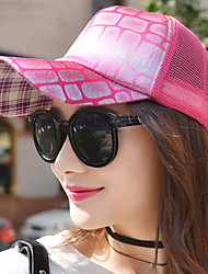 Women 's Square Sequins Mesh Hat Geometry Printing College Wind Baseball Cap
