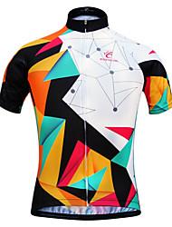 JESOCYCLING Велокофты Жен. С короткими рукавами Велоспорт Джерси Быстровысыхающий Ультрафиолетовая устойчивость Дышащий Легкие материалы