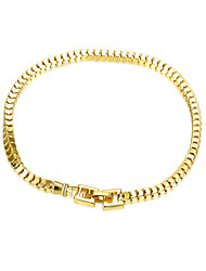 Exquisite Yellow Gold Plated Sweet Square Cube Chain & Link Bracelets Jewellery for Women Accessiories