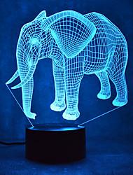 Natale elefante tocco LED dimming 3D la luce di notte della lampada 7colorful atmosfera decorazione di illuminazione novità luce di natale