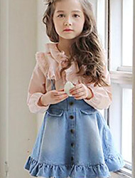 Girls' Going out Casual/Daily School Solid Skirt-Cotton All Seasons