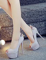 Feminino-Saltos-Light Up Shoes-Salto Agulha-Verde Camel Vermelho/Branco-Pele Seda-Ar-Livre Casual Festas & Noite