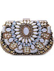 L.WEST Women's Luxury High-grade Manual Gems Evening Bag