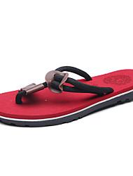 Chinelos de homem&Flip-flops verão luz solas leatherette casual vermelho marrom preto