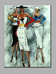 Hand-Painted Abstract Female Models Oil painting Ready To Hang Modern One Panels Canvas Oil Painting For Home Decoration