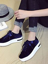 Zapatos aumentó de plataforma de fondo pesado zapatos de zapatos salvajes zapatos blancos femenino cordón de terciopelo coreano 2017
