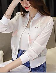 2016 spring and summer new Korean thin wild short paragraph dragonfly embroidery baseball uniform jacket sun protection clothing