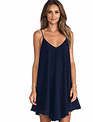 EBAY quick sell hot v collar loose chiffon dress skirt sexy mini back cross dress
