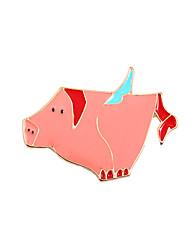 Fachina Cute Flying Pig Enamel Brooch