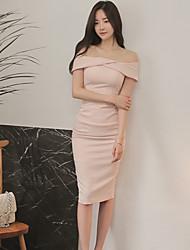 2016 summer new Korean ladies sexy strapless collar Slim package hip dress women dress