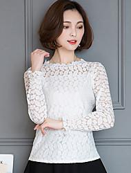знак кружева рубашка женская весна 2017 новой корейской версии культивирования с длинными рукавами кружева рубашки дна рубашку