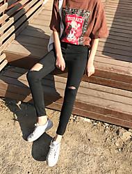 знак # черной дыры тонкой талии стрейч брюки ноги карандаш брюки узких джинсы женщина колготки