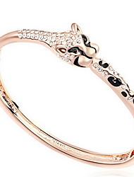 Mulheres Bracelete Jóias Amizade Moda Cristal Liga Forma Geométrica Ouro Rose Jóias Para Festa Aniversário 1peça