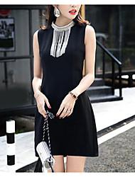2017 весной и летом в Соединенных Штатах не достигают развлечения переднего тройника тяжелого бисера кисточки платья без рукавов женщин