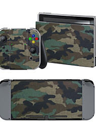 B-Skin® Green Camouflage Cover Sticker For Nintendo Switch Novelty Portable