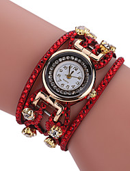 Women's Bracelet Watch Quartz Alloy Band Casual Black White Blue Red Orange Brown Pink Yellow Navy