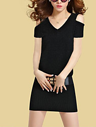 2017 summer new dress Korean temperament Slim cover belly was thin package hip knit dress with belt