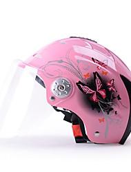 casco de motocicleta yema 310 verano abs medio casco de anti-UV para 54-61cm con la lente transparente