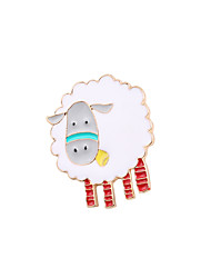 Fachina Cute Sheep Enamel Brooch