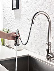Pull-out/Pull-down Kitchen Faucet Standard Spout Centerset Thermostatic Rain Shower Pullout Kitchen Faucet Mixer