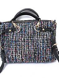 Women Bags All Seasons Canvas Shoulder Bag with for Casual Blue Black Red