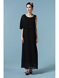 Nouvelle mousseline de soie robe en mousseline de soie robe mousseline