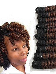 New style Bouncy Curl crotchet braid hair twist saniya curls free hook gift Synthetic  braiding haar extension 20roots/pack 5packs make head
