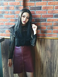 Sign in spring 2017 Korean version of the new fashion custom solid color lace lace bottoming shirt female