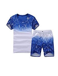 Homens Acampar e Caminhar Verão Azul Real azul safira-Esportivo