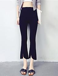 Знак нерегулярные моды колготки летом тонкий разделе брюки случайные штаны студенты заусенцы микро спикер брюки женщины